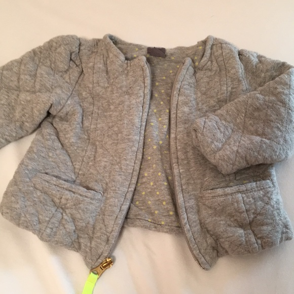 dbc488dc4 GAP Jackets & Coats | Baby Quilted Gray Zip Up Sweater 2824mo | Poshmark